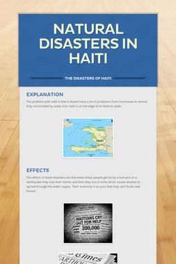 Natural disasters in Haiti