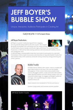 JEFF BOYER'S BUBBLE SHOW