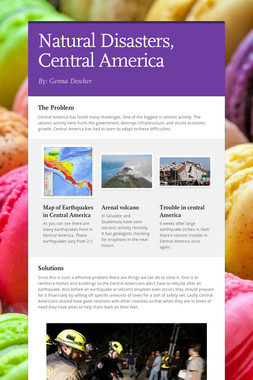 Natural Disasters, Central America