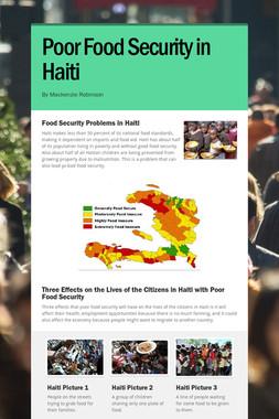 Poor Food Security in Haiti
