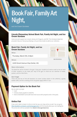 Book Fair,       Family Art Night,