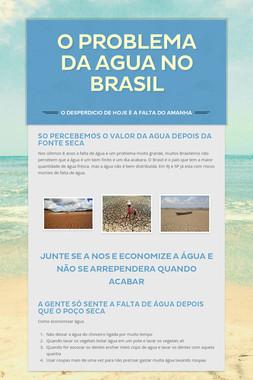o problema da agua no brasil