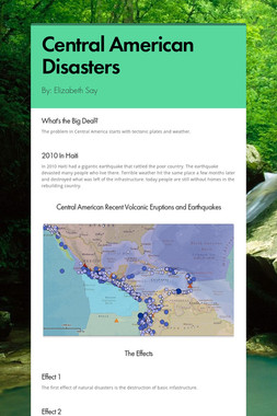 Central American Disasters