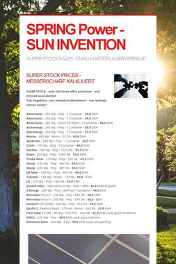 SPRING Power - SUN INVENTION