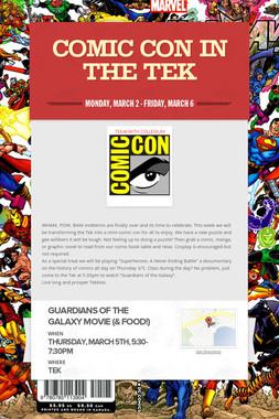 Comic con in the Tek