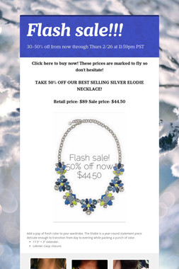 Flash sale!!!