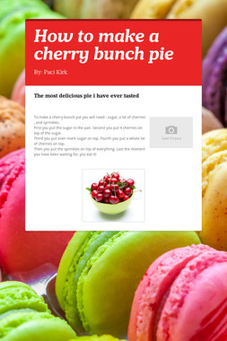 How to make a cherry bunch pie