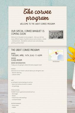 The corvee program