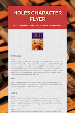 Holes Character Flyer