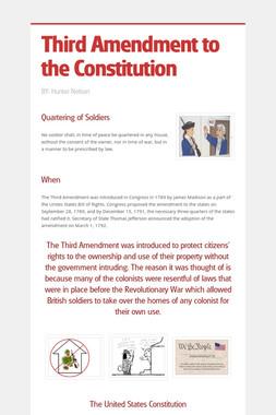 Third Amendment to the Constitution