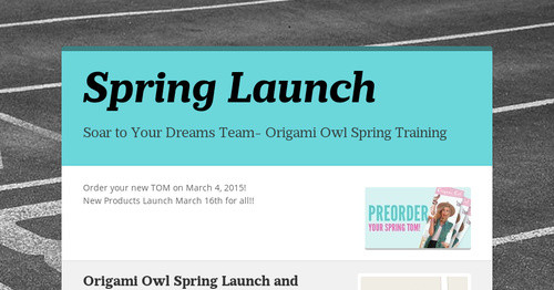 Spring Launch Smore Newsletters