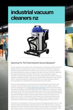industrial vacuum cleaners nz
