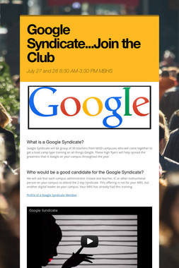 Google Syndicate...Join the Club