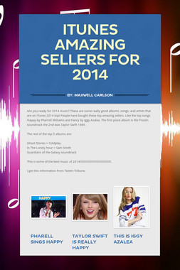 Itunes Amazing Sellers for 2014
