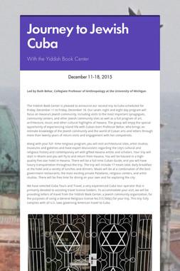 Journey to Jewish Cuba