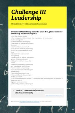 Challenge III Leadership