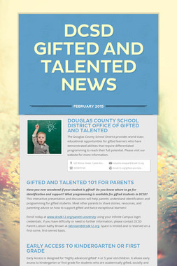 DCSD Gifted and Talented News