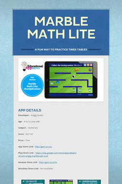 Marble Math Lite