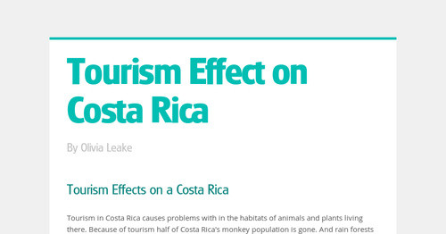 causes of tourism