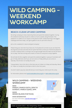 Wild Camping - Weekend Workcamp