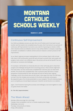 Montana Catholic Schools Weekly