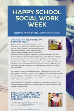 Happy School Social Work Week