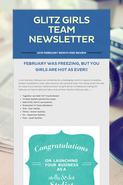 Glitz Girls Team Newsletter