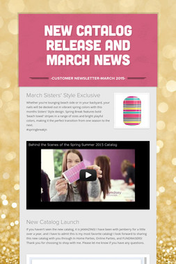 New Catalog Release and March News