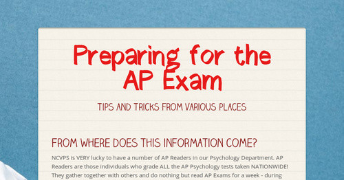 ap psychology exam essays Students considering taking ap psychology or any other advanced placement course should recognize that taking these classes essay structure tips for ap psych exam.