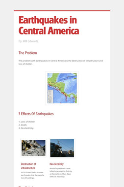 Earthquakes in Central America