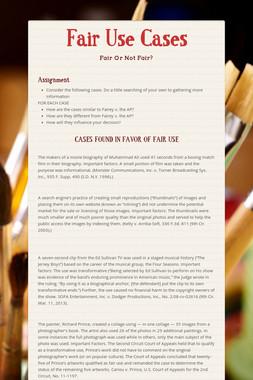 Fair Use Cases