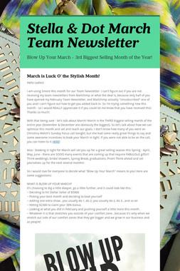 Stella & Dot March Team Newsletter