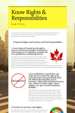 Know Rights & Responsibilities