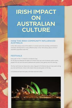Irish Impact On Australian Culture