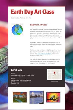 Earth Day Art Class