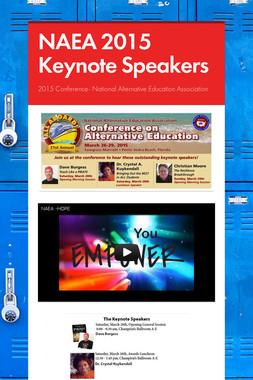 NAEA 2015 Keynote Speakers