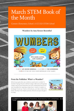 March STEM Book of the Month