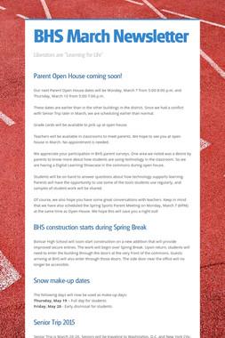 BHS March Newsletter
