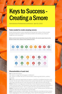 Keys to Success - Creating a Smore