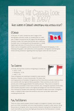 What Will Canada Look Like In 2060?