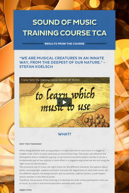 Sound Of Music Training course TCA