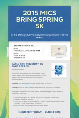 2015 MICS Bring Spring 5K