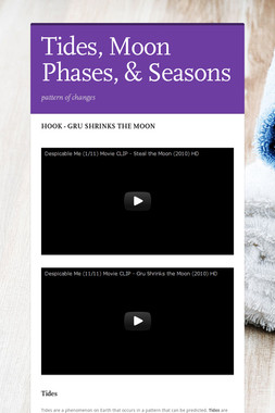 Tides, Moon Phases,  & Seasons