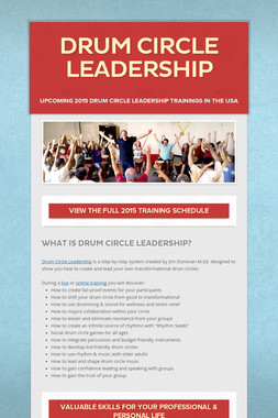 Drum Circle Leadership