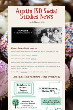 Austin ISD Social Studies News
