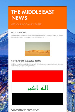 THE MIDDLE EAST NEWS