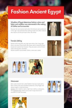 Fashion Ancient Egypt
