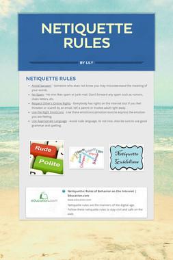Netiquette Rules