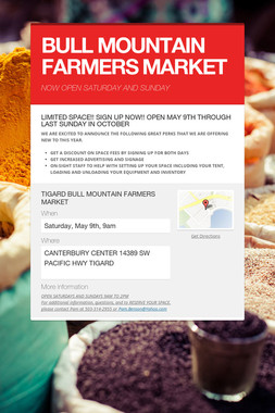 BULL MOUNTAIN FARMERS MARKET