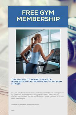 Free Gym Membership